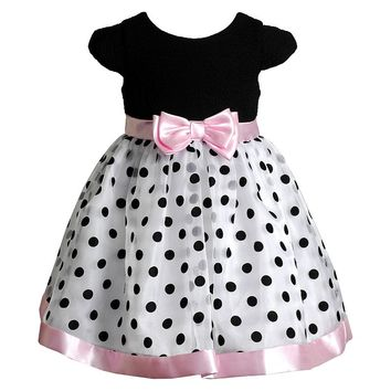 Youngland Polka-Dot Organza Dress - Baby Girl, Size: