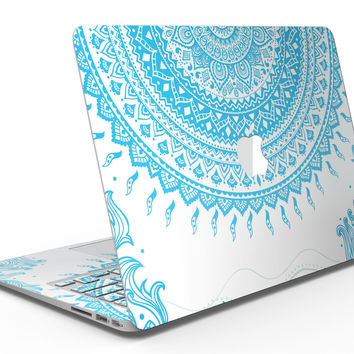 Bright Blue Circle Mandala v3 - MacBook Air Skin Kit