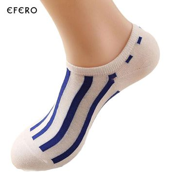 3Pair Mens Sock Slippers Stripe Invisible Boat Socks Short Spring Summer Fashion Male Novelty Socks Ankle Sock Calcetines Hombre