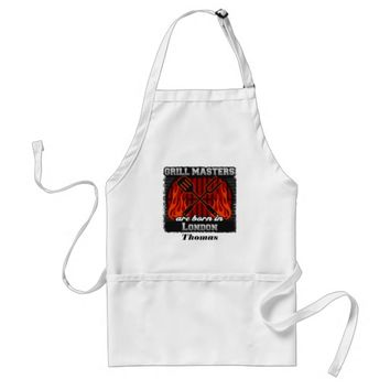 Grill Masters Are Born In London Personalized Adult Apron