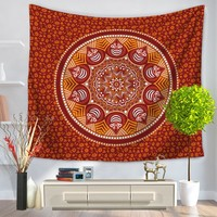 Mandala Towel Yoga Mat Mandala Tapestry Hippie Wall Hanging Bohemian Queen Bedspread Home Dorm Decor Beach Shawl