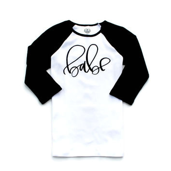 Babe Baseball Raglan Mommy and Me Tee T Shirt