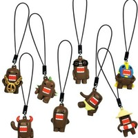 Domo Kun Charm Danglers - Complete Set of 8 Domos - All Keychain Figures Can Attach to Cell Phones, Backpacks, Purse, Keys, Charms, Zipper Puller