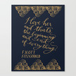 F. Scott Fitzgerald Quote Stretched Canvas by imkellycummings