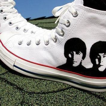 ICIKGQ8 sale 20 percent off the beatles converse shoes hand painted