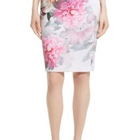 Ted Baker London Melodey Painted Posie Pencil Skirt | Nordstrom