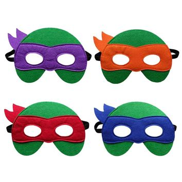 Children's Cartoon Series Teenage Mutant Ninja Turtles Masquerade Mask TMNT Mask Ninja Turtles Mask Felt Mask For Kids Xmas Toy