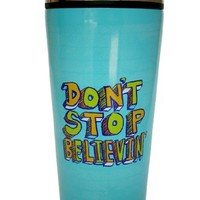 Blue Q Don't Stop Believin' Insulated Travel Mug