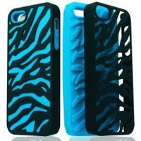 Hybrid Zebra Case Black/Dark Blue for Apple iPhone 5 5G