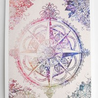 Voyager Compass Indie Rose Print