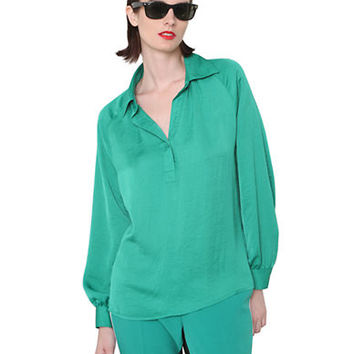 Isaac Mizrahi New York Long-Sleeve Blouse