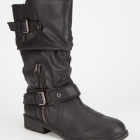 Report Matt Womens Boots Black  In Sizes