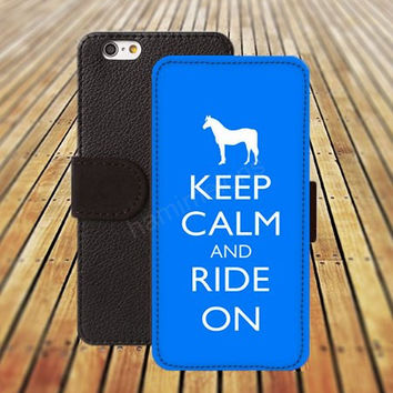 iphone 5 5s case keep calm and ride on blue iphone 4/4s iPhone 6 6 Plus iphone 5C Wallet Case,iPhone 5 Case,Cover,Cases colorful pattern L437
