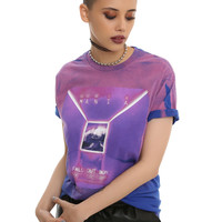 Fall Out Boy Mania Girls Tie Dye T-Shirt