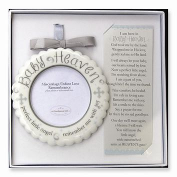 Baby Heaven Memorial Ornament Boxed with Poem - Perfect Religious Gift