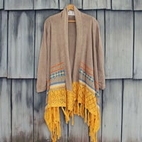 Painted Sky Fringe Sweater