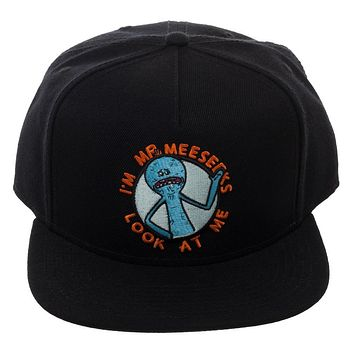 Rick & Morty Mr. Meeseeks Black Snapback Hat
