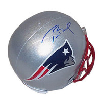 Autographed Tom Brady New England Patriots full size replica helmet