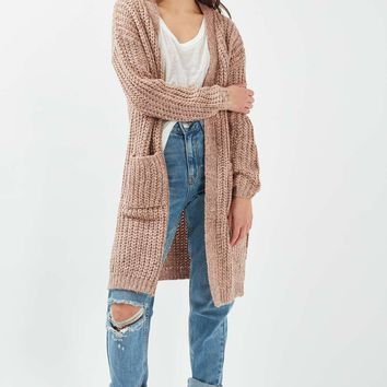 **Chunky Knit Longline Card by Nobody's Child | Topshop