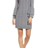 Eliza J Mixed Cable Sweater Dress | Nordstrom