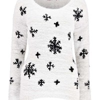 Jas Embroided Snowflake Jumper