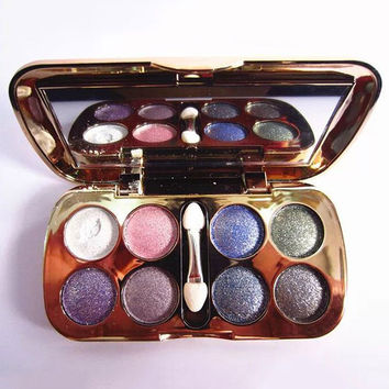 Cosmetic 8 Colours Diamond Eyeshadow Palette with Mirror and Brush