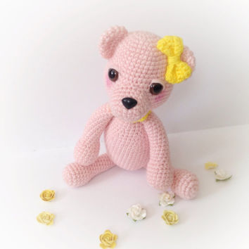 Teddy Bear Amigurumi Bear Amigurumi Crochet Bear Stuffed Animal Toy Bear Kids Toy Nursery Decor Kawaii Plush Baby Shower Birthday Gift Ideas