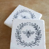 Marble Farmhouse Marble Coaster