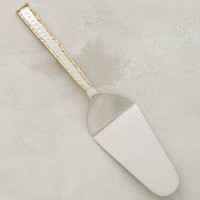 Besart Cake Server by Anthropologie in Gold Size: One Size Kitchen