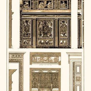 Wall Paintings and Decoration of the Renaissance 28x42 Giclee on Canvas