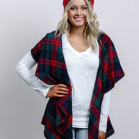 Holiday Plaid Flannel Vest