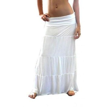 Yoga Clothing for You Womens Micro Jersey Fold Over Skirt