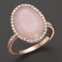 Meira T Pink Opal Rose Gold and Diamonds Ring | Bloomingdale's