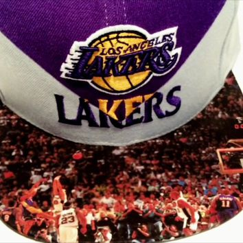 Los Angeles Lakers New Era Snapback or Fitted Cap with Custom Bill