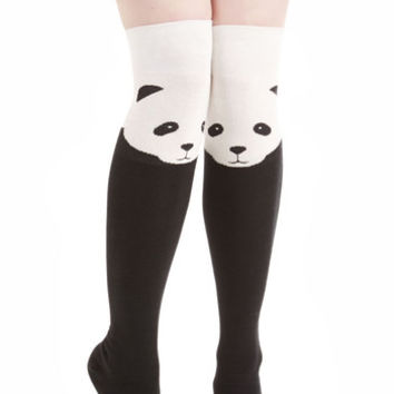 ModCloth Darling Ex-Panda-ble Enjoyment Socks