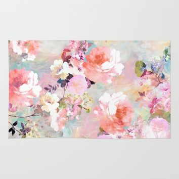 Love of a Flower Rug by Girly Trend