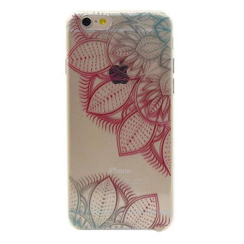 red lace floral iphone 6 6s plus case cover gift 39