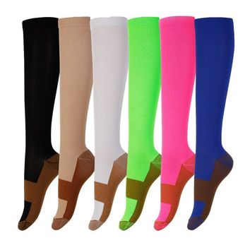 Unisex Copper Compression Socks UNISEX Anti Fatigue Pain Relief Knee High SOCKS