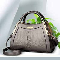 2018 Luxury Handbag Women Bag Printed Snake Crocodile Skin Bag Tote Designer Handbag Purse Female Crossbody Shoulder Bag Satchel