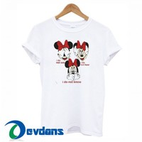 Disney Minnie Mouse T Shirt Women And Men Size S To 3XL