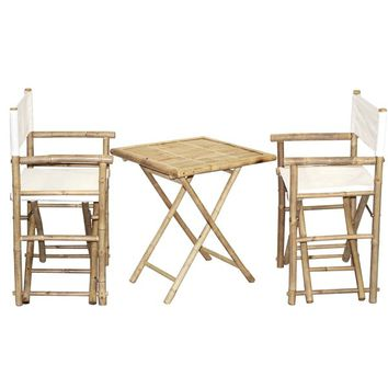 Bamboo Bistro Director's Chairs and Square Table Set (Vietnam) | Overstock.com Shopping - The Best Deals on Patio Tables
