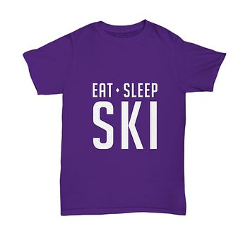 Eat Sleep Ski Sking For Slope Lovers and Fans T-Shirt