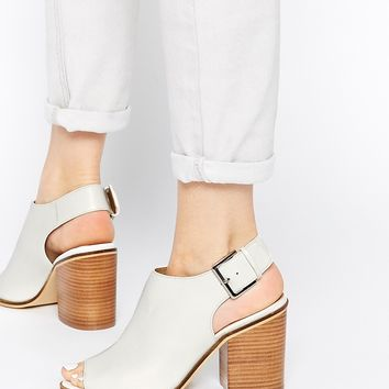 ASOS ELLERMAN Peep Toe Buckle Shoe Boots
