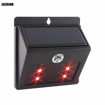 Solar Powered Predator Deterrent LED Light Scares Deer Away, Nocturnal Pest Animal Repellent, Chicken Coop Accessories