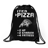 Facts Of Pizza Drawstring Bags