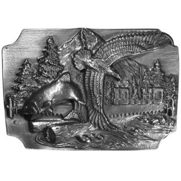 Sports Accessories - Idaho Antiqued Belt Buckle