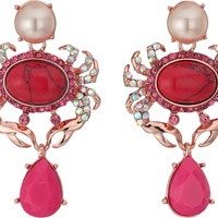 Betsey Johnson Betsey's Boat House Crab Drop Earrings Multi - Zappos.com Free Shipping BOTH Ways