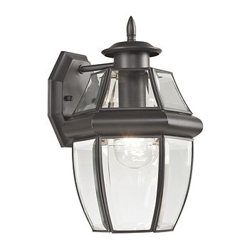 Ashford 1 Light Outdoor Wall Sconce In Oil Rubbed Bronze