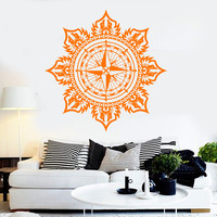 Vinyl Wall Decal Windrose Marine Ornament Nautical Art Stickers (ig3956)