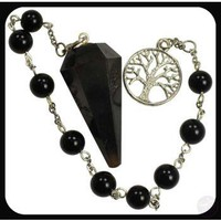 Grounding Protecting Black Onyx Tree of Life Pendulum Bracelet